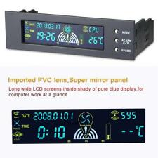 "5.25""Bay Front LCD Panel 3 Fan Speed Controller CPU HD SYS PC Temperature Sensor"