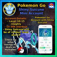 Pokemon Account Go Shiny Suicune - Mini Acc!