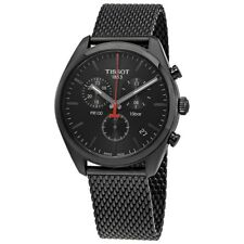 Tissot Men's PR 100 Black Dial PVD Bezel Chronograph Watch T101.417.33.051.00