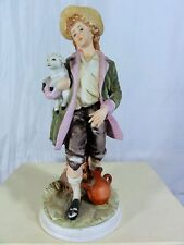 Boy With Lamb - Andrea By Sadek Figurine - Very Detailed On All Angles
