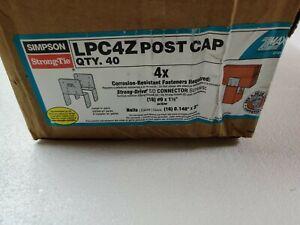 (40 Count) Simpson LPC4Z G185 4X Light Post Cap ZMAX Adj Triple Zinc Coated