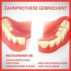 Zahn Prothese abgebrochen Zahnersatz Reparatur Kleber Geld sparen Kosten pflegen