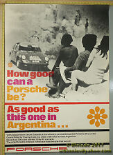 1967 Argentina Grand Prize  Porsche Genuine Factory Poster Original