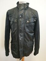 H882 MENS HOWICK BLACK FULL ZIP WAX MOTORCYCLE WEEKEND JACKET UK S EU 46