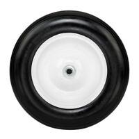 "14.2"" Flat Free Wheel Barrow Wheelbarrow Tire Solid Foam 5/8 Axle Cart Wagon NEW"