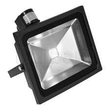 50W COB Outdoor LED Flood Light with Motion Sensor 6000K Daylight IP65 Black