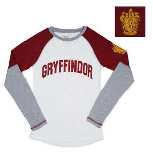 Harry Potter Gryffindor Womens Long-Sleeve T-Shirt Universal Studios Large NEW
