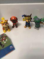 Nickelodeon Paw Patrol  Action  Pups 4pk lot  Figure Chase, Rocky, Zuma , Rubble