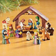 Resin Nativity Scene Children Christmas Decoration Tabletop Holiday Xmas Decor