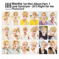 Wonho 1st Mini Album Love Synonym #1 Right for me Official Photocard KPOP K-POP