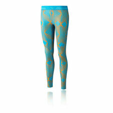 Pantaloni da donna blu in poliestere per palestra, fitness, corsa e yoga