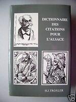 Dictionnaire des Citations pour l'Alsace 1987 Sprüche