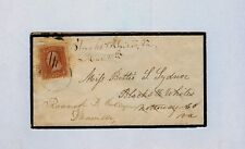 1869 #94 - Forwarded MOURNING Cover to ROANOKE FEMALE COLLEGE, Danville Virginia