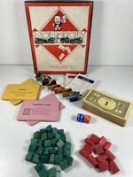 Vintage Waddingtons Monopoly with Cardboard Tokens (no board) VGC