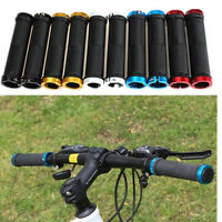 Double Lock-On Locking BMX MTB Cycle Mountain Bike Bicycle Handle Bar End Grips