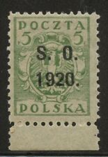 Eastern Silesia, Poland Occupation Ww1 Stamp 1920 Mnh, Scott 41