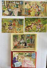 Vintage Hermann Eichhorn German Block Story Fairy Tale Case classic Toy puzzle