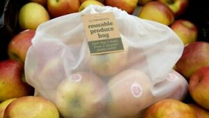 Sainsbury's Reusable Produce Bags Mesh Bags for Grocery Shopping Storage Fruit