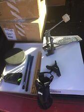 Free P&P. Drum Kit Bundle. Sticks, Brushes, Pad, Bag, Cowbell. Pedal DB910282