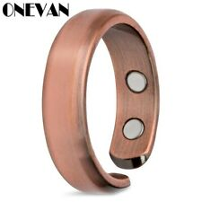 Matte Finished Health Energy Copper Plated Rings for Arthritis Pain Relief