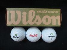 Coca-Cola Golf Balls Wilson Eco-Core Set of 3 - BRAND NEW