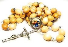 wooden Relic Rosary 3rd class Saint Christopher bachelors transportation drivers