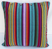 Euro Cushion Cover Madagascar Stripe Multi Colour Large Floor Seat Scatter Case