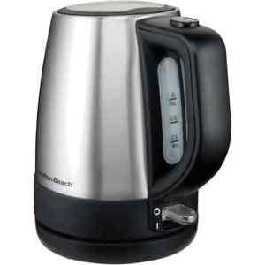 Hamilton Beach Electric Kettle 1 Liter Stainless Steel Cord-free Serving 40978