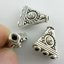 6pcs Tibetan Silver 1 to 3 holes Triangle Connectors Spacer Beads 14.5x16mm