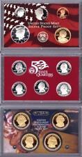 2007 U. S. Mint SILVER PROOF SET 14 Coins w/Quarters & President $1 w/box & COA