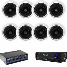 """PT390AU Home USB AUX Receiver,6.5"""" In-Ceiling 250W Speakers w/Speaker Selector"""
