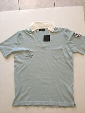 Zara Light Blue Polo Shirt with White Collar - Size XL - Brand new with tag