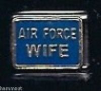 AIR FORCE WIFE WHOLESALE ITALIAN CHARM in Stainless steel 9MM