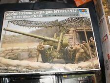 TRUMPETER 1/35 SOVIET 122MM CORPS GUN M1931/1937 W/ M1931 WHEEL (A-19) MODEL KIT