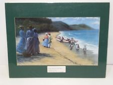 VINTAGE PRINT FISH CATCH AT CANE BAY BY LEO CARTY '91