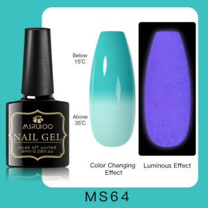 MSRUIOO Luminous Color-Changing UV Gel Nail Polish Soak Off Salon Manicure MS64
