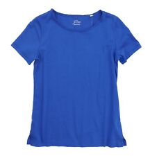 J.Crew Women's M - NWT Athens Blue Short Sleeve SuPima Cotton Raw Edge Tee H6629