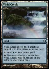 MTG 4x VIVID CREEK - PDS Sliver *Land all Mana FOIL*