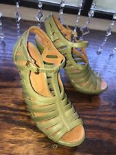 CHIE MIHARA leather strappy cage platform heels sandals size 36