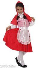 Déguisement Fille Petit Chaperon Rouge 5/6 ans Costume Enfant Dessin Animé