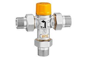 Valvola deviatrice termostatica Caleffi Ø 3/4 pannello solare integrazione