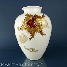 Porcelaine vase Heinrich & Co section d'art peinte signed art porcelain 1950