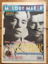 Melody Maker 14/9/91 Electronic cover, Nirvana, Billy Bragg, House Of Love