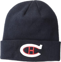 Montreal Canadiens Vintage Retro Logo Beanie Cuffed Knit Hat Mens Womens NEW