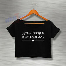 Justin Bieber Crop Top Shirt Tshirt Tee Womens Adults Croptee croptees