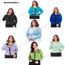 Cotton Button Jumpers & Cardigans Plus Size for Women