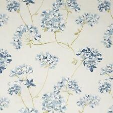 1 METRE JOHN LEWIS ANAIYA FLORAL BLUE/WHITE 100% COTTON SATEEN