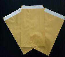 50 Pochettes cadeaux sachets papier kraft doré bijoux emballage or  7x13,5 cm