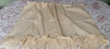 Two Retro Plain Off White/Yellow Curtains Made in the USA