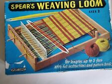 Vintage Spear'S Weaving Loom Size 2 in original box with pattern booklet